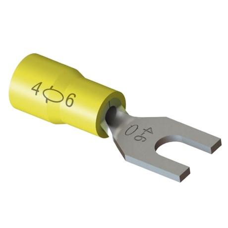 Terminal Pré Isolado Forquilha 4 a 6mm² M4 100 Peças TPF-6-4 INTELLI