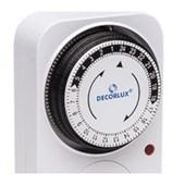 Timer Temporizador Analógico para Tomada 10A Bivolt TE1163 DECORLUX