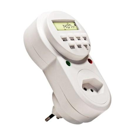 Timer Temporizador Digital para Tomada 10A Bivolt 20 Programações TE2163 DECORLUX