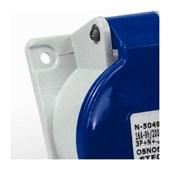 Tomada Industrial de Embutir com tampa Azul 3P+T 16A 250V IP44 N4049-NEWKON STECK
