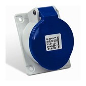 Tomada Industrial de Embutir com tampa Azul 3P+T 32A 250V IP44 N4249-NEWKON STECK