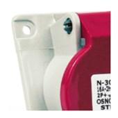 Tomada Industrial de Embutir com tampa Vermelho 3P+T+N 32A 440V IP44 N5246-NEWKON STECK