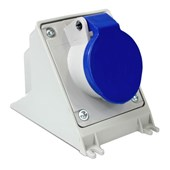 Tomada Industrial de Sobrepor com tampa Azul 2P+T 16A 250V IP44 N3006-NEWKON STECK