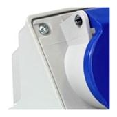 Tomada Industrial de Sobrepor com tampa Azul 3P+T 32A 250V IP44 N4209-NEWKON STECK