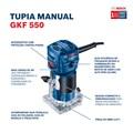 Tupia Manual Laminadora 550W GKF550 BOSCH